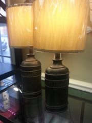 Faux Leather Rustic Base Lamps