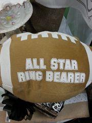 Wedding Ring Bearer Football