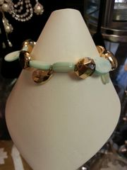 Jewelry Bracelet Mint Green and Gold