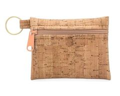 Be Organized Keychain Change Purse Cork