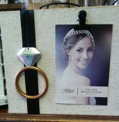 Wedding Wood Frame with Wedding Ring