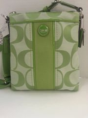Coach Signature Crossbody Lime #F48806