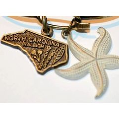 Gleeful Peacock North Carolina State Necklace (2 Charms)