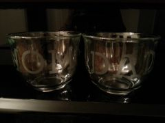 Wedding Etched Clear Coffee Mugs