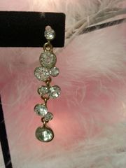 Wedding Earring Gold Crystal