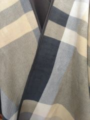 Open Front Oversized Fleece Blanket Cape Grey Black Antique Mustard