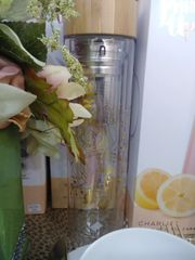 Pinky Up Bouquet Glass Travel Mug with Infuser