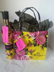 Gift Basket Betsey Johnson Tote/Umbrella Yellow