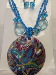 Jewelry Set Caribbean Shell Collection Multi-colored Floral