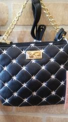 Handbag Betsey Johnson Black & Pink Crossbody