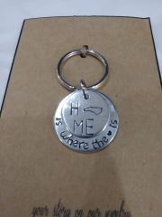 EB State Silver Keychain North Carolina