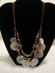 Jewelry Necklace Double Cord and Shell