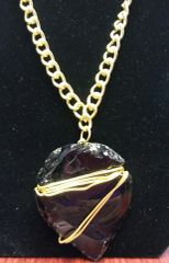 Jewelry Necklace Black Onyx Arrowhead