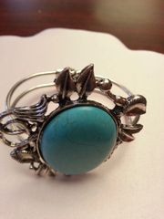 Jewelry Bracelet Turquoise Sculpted Cuff