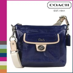 Coach Crossboby Blue/Tan Swing Bag #F48865