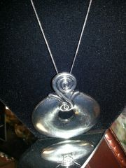 Jewelry Necklace-Brushed Silver