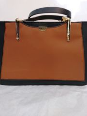 Handbag Tri Color Cognac