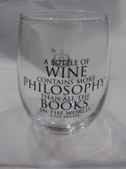 Fly Paper A Bottle of Wine contains more Philosophy Stemless Wine Glass