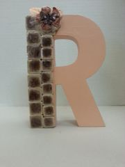 "Wall Hanging Wood Letter ""R"""