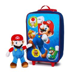 Mario Kid Size Suitcase with Plush Mario