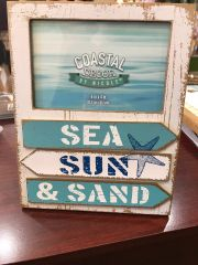 Coastal Decor Sea, Sun, and Sand 6x4 Picture Frame