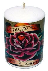 Ed Hardy Unscented Piller 3x4 Candle - Dedicated