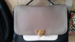 Handbag Anne Klein 3 tone Leather Portfolio