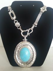 Jewelry Necklace Turquoise Collection Medallion
