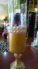 Wedding Gold Dust Candle Holder Large