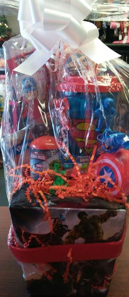 The Avengers With Superman Cup Gift Basket Dylan S