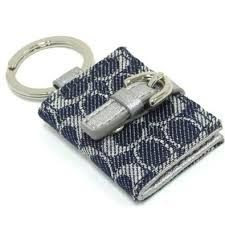 Coach Signature Key Ring - Picture Frame Key Ring #F61848