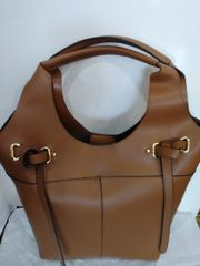 Handbag Cognac with Front Straps