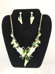 Jewelry Set - 2pc Nacklace & Earrings Butterfly