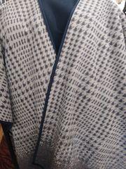 Open Front Oversized Fleece Blanket Cape Brown and Tan