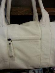 Handbag White Studded Side Hobo