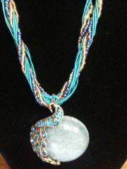 Jewelry Necklace Peacock Turquoise