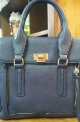 Handbag Navy Structured Satchel