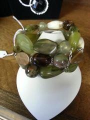 Jewelry Bracelet Forest Green Gems