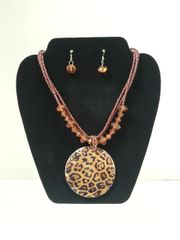 Jewelry Set Caribbean Shell Collection Leopard