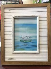Coastal Decor Whitewash Plank 5x7 Picture Frame