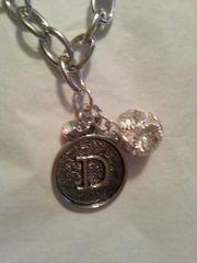 Jewelry Bracelet Initial Typeset with Charm