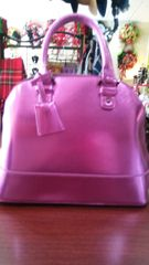 Handbag Fuchsia Metallic Satchel
