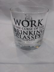 Fly Paper Work is the Curse of the Drinking Classes Rocks Glass