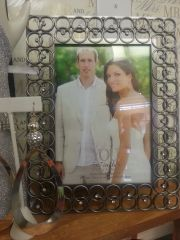 Wedding Frame Gunmetal with Rhinestones