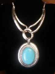 Jewelry Necklace Turquoise Duo Link