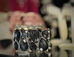 Jewelry Bracelet Black Crystal Teardrop