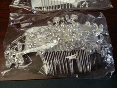 Wedding Hair Comb Windmill with Pearls