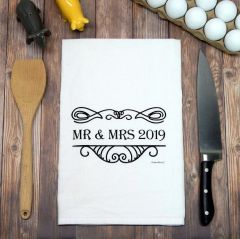 Flour Sack Tea Towel Mr and Mrs 2019