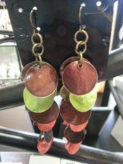 Jewelry Earrings Multi Color Disk