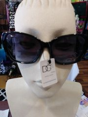 D&G Sunglasses Black with White Arms